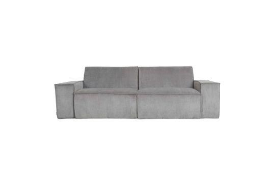 Sofá de pana de 2 puestos James gris claro Clipped