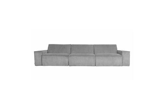 Sofá de pana de 3 puestos James gris claro Clipped