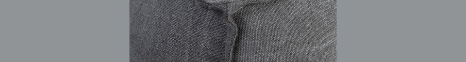 Descriptivo Materiales  Sofá Fat Freddy gris piedra