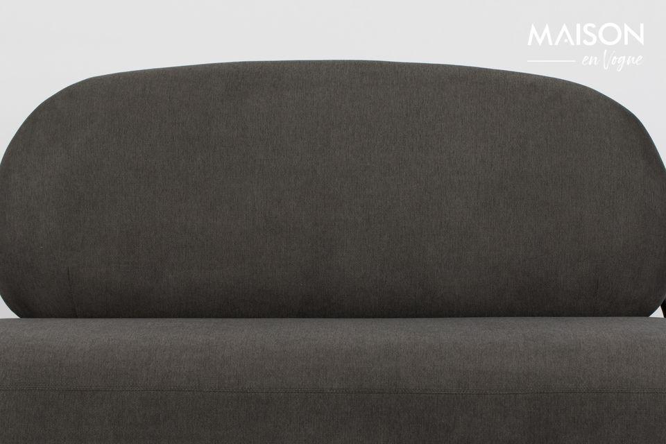 White Label Living ha diseñado un sofá cocooning en hermosos tonos grises y negros