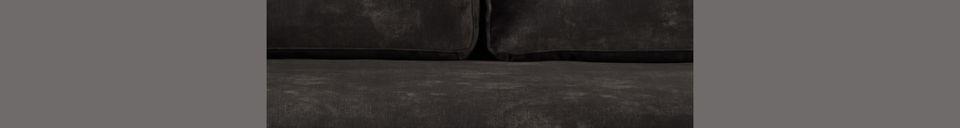 Descriptivo Materiales  Sofá Houda de 3 plazas en color antracita