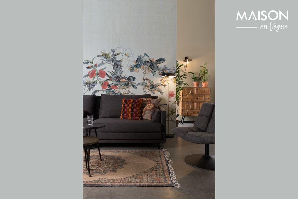 Sofá gris de 3.5 asientos más elegante