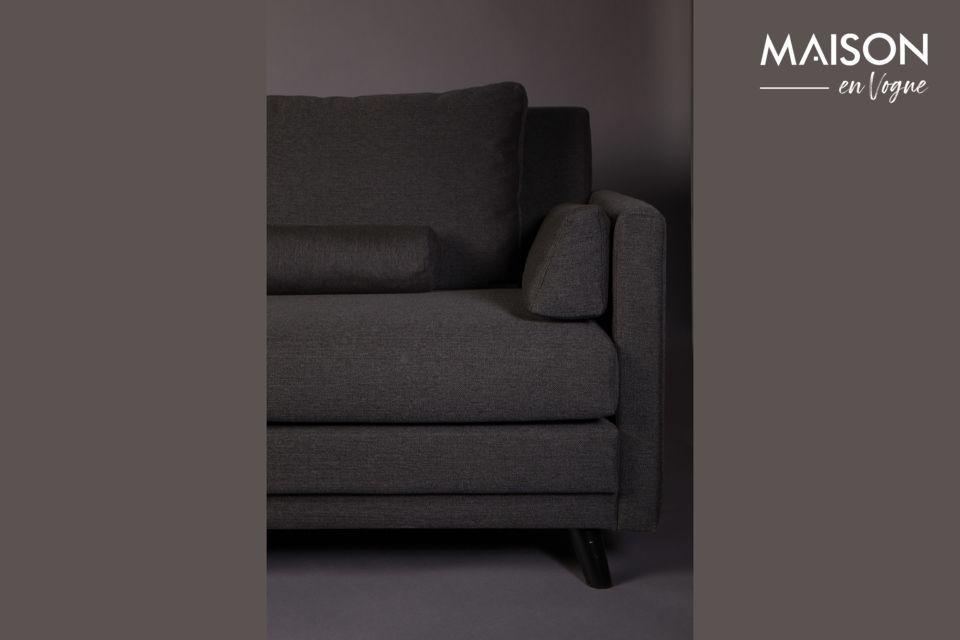 Este sofá está provisto de 6 cojines extraíbles para el máximo confort