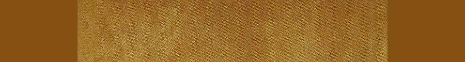 Descriptivo Materiales  Sofá retro de 2 plazas Vez color ocre