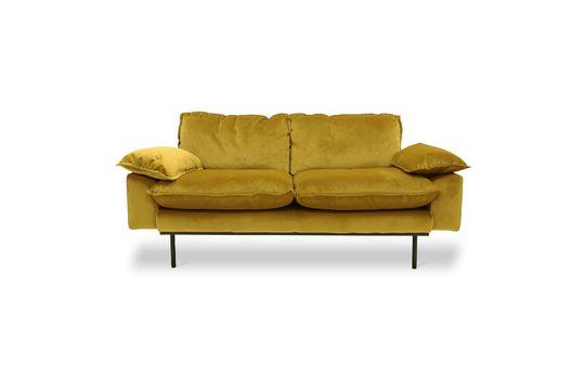Sofá retro de 2 plazas Vez color ocre Clipped