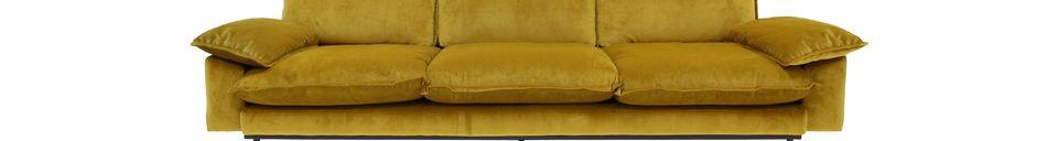 Descriptivo Materiales  Sofá retro de 4 plazas Vez color ocre