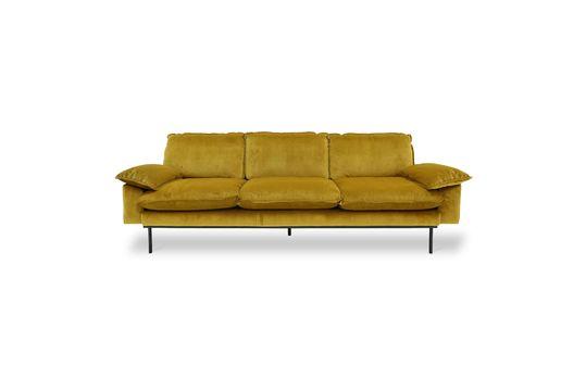 Sofá retro de 4 plazas Vez color ocre Clipped