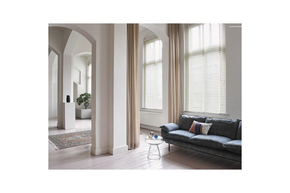 El sofá retro de terciopelo de 4 plazas de la marca holandesa HK Living es perfecto para amueblar