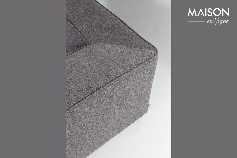 El sofá gris oscuro King