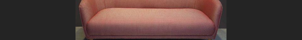 Descriptivo Materiales  Sofá Tuileries en tela Jacquard roja