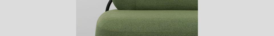 Descriptivo Materiales  Sofá verde Polly