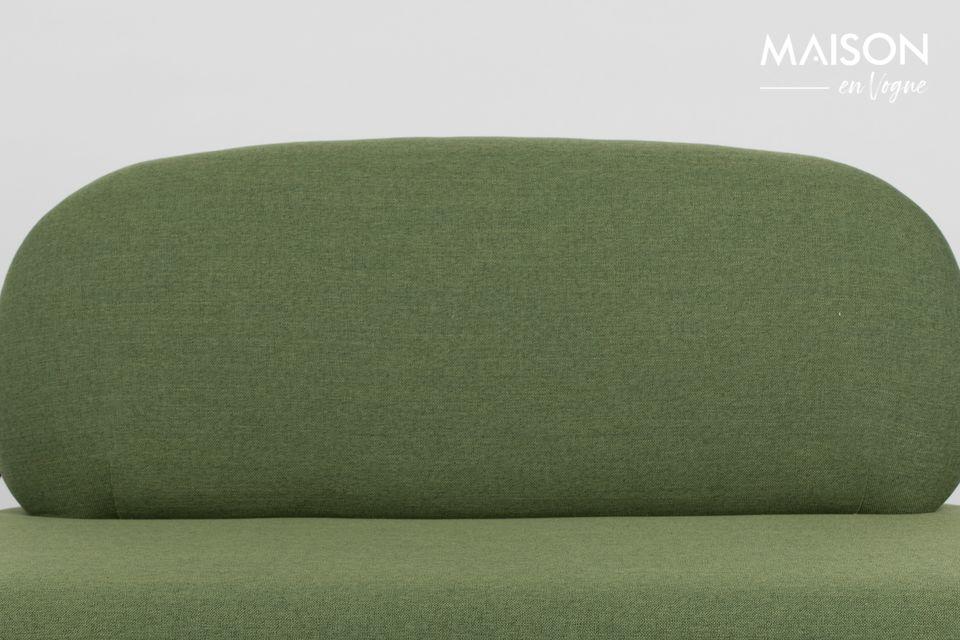 El sofá verde Polly es perfecto para amueblar su sala de estar al estilo escandinavo