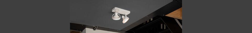 Descriptivo Materiales  Spotlight Dice-2 DTW Blanco