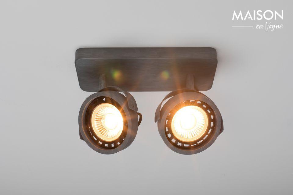 Spotlight Dice-2 DTW galvanizado Zuiver