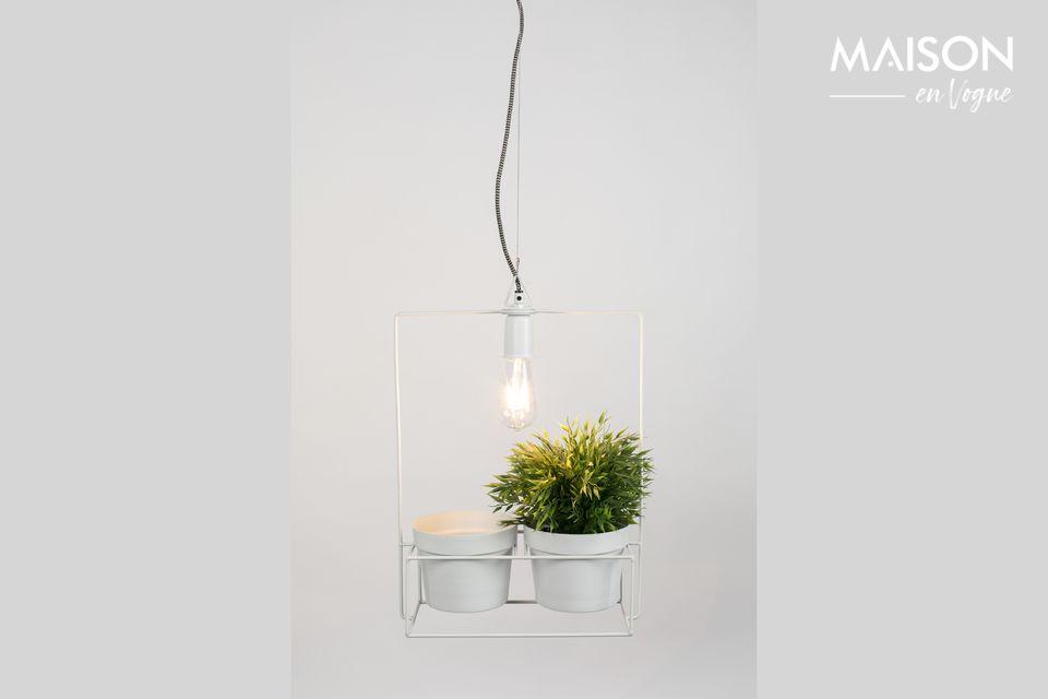 ¿Qué tal si mezclamos una lámpara con macetas?
