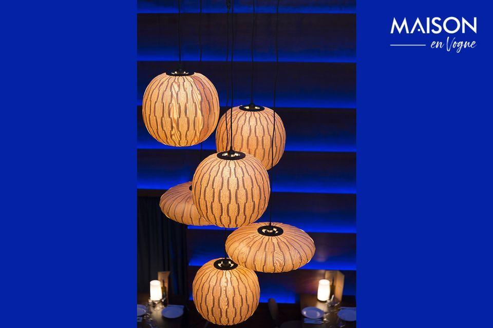 La suspensión de luz Bond Dutchbone ofrece la combinación de un diseño natural e industrial