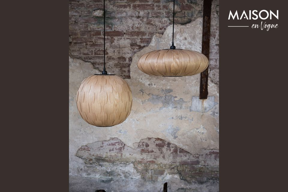 La veta de la madera asegura un efecto visual muy exitoso