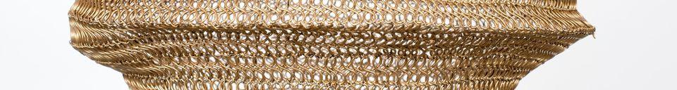 Descriptivo Materiales  Suspensión Lena de latón tamaño M