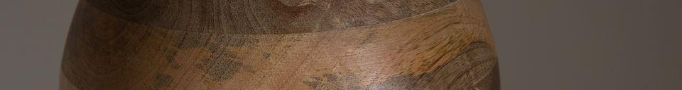 Descriptivo Materiales  Suspensión Woody de madera de mango