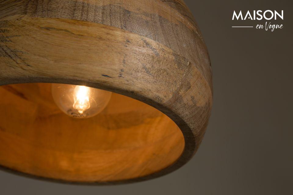 Una luminaria artesanal natural y única