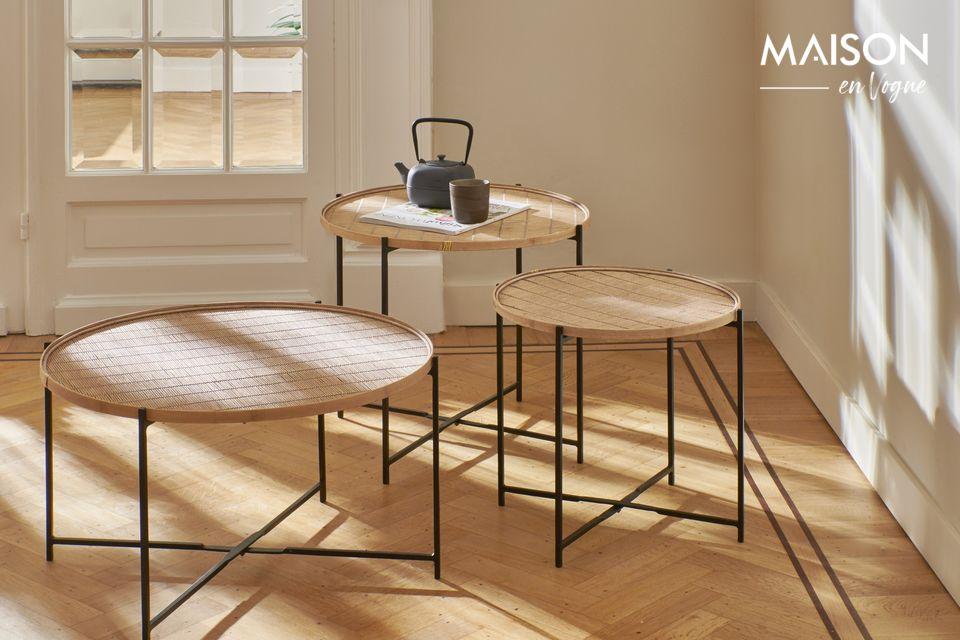 Su diseño conserva el encanto natural del bambú en un estilo refinado y muy auténtico