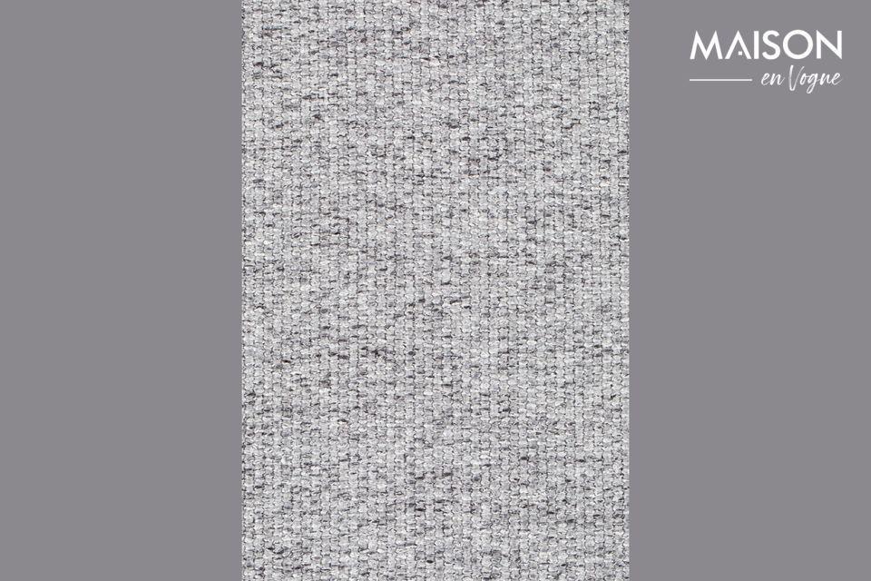 Sorprendente mezcla de estilos, el taburete de bar Donny gris es una creación clásica y caprichosa