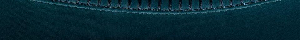 Descriptivo Materiales  Taburete de bar Franky en azul petróleo