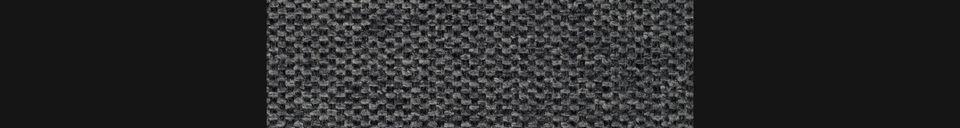 Descriptivo Materiales  Taburete de bar Jolien gris oscuro