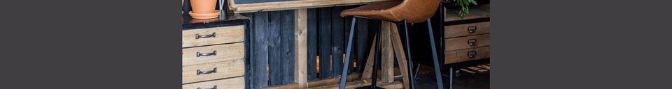 Descriptivo Materiales  Taburete de mostrador marrón Franky