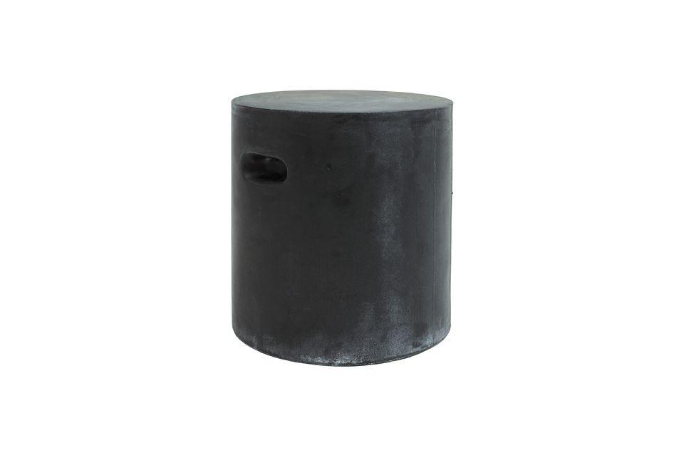 Taburete Fibreflex de color gris oscuro Pomax
