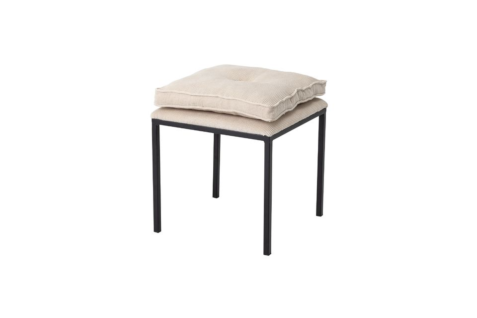 Un taburete moderno y cómodo