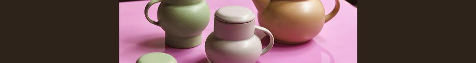 Descriptivo Materiales  Tetera de burbujas de cerámica Alaigne