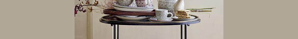 Descriptivo Materiales  Tetera de gres decorado Karine