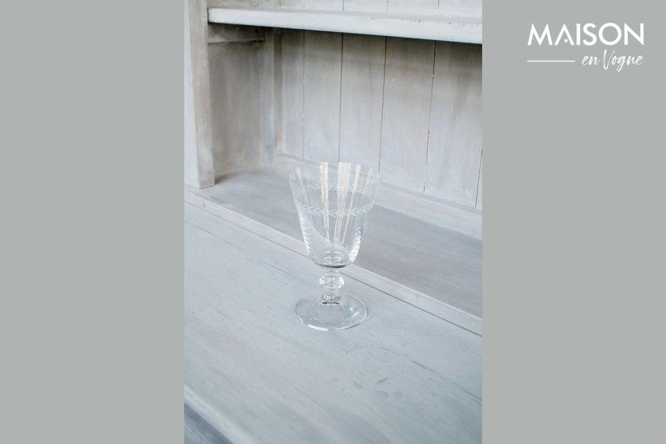 Vaso de agua Laurier grabado Chehoma