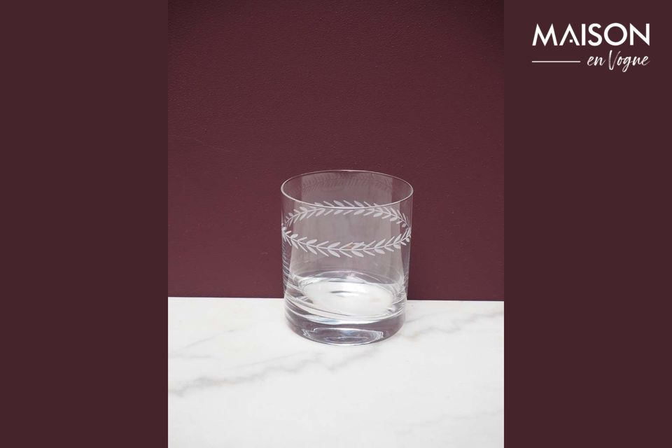 Vaso de whisky Laurier grabado Chehoma