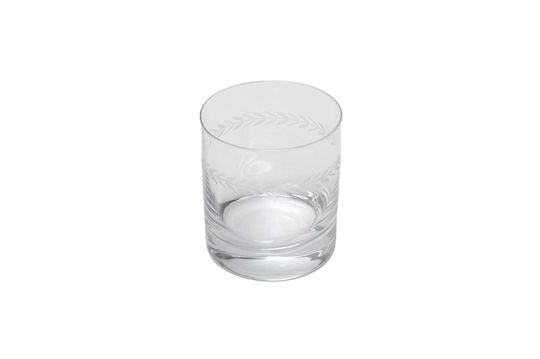 Vaso de whisky Laurier grabado Clipped